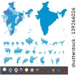 india highly detailed map.all... | Shutterstock .eps vector #139266026