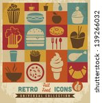 fast food icons set.vector | Shutterstock .eps vector #139266032