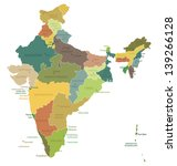 india highly detailed map.all... | Shutterstock .eps vector #139266128
