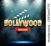 bollywood indian cinema. movie...   Shutterstock .eps vector #1392664715