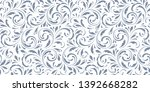 floral seamless pattern. plant... | Shutterstock .eps vector #1392668282