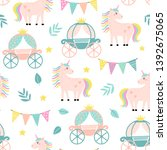 seamless pattern with a funny... | Shutterstock .eps vector #1392675065
