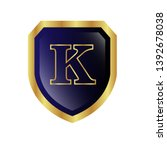 letter k on the gold shield....