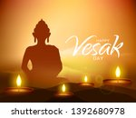 illustration of happy vesak day ... | Shutterstock .eps vector #1392680978