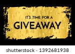time for a giveaway   banner...   Shutterstock .eps vector #1392681938