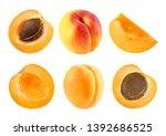 Apricot Fruits And Half...