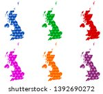 maps of great britain with... | Shutterstock .eps vector #1392690272