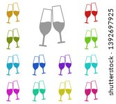 glasses with champagne multi...