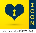 blue heart with keyhole icon... | Shutterstock .eps vector #1392701162