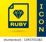 blue ruby file document icon.... | Shutterstock .eps vector #1392701282
