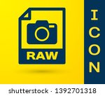 blue raw file document icon....   Shutterstock .eps vector #1392701318