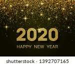 2020 happy new year. new year...   Shutterstock .eps vector #1392707165