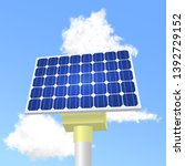 solar panels in vector. solar... | Shutterstock .eps vector #1392729152