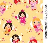 seamless fairy princess kids...   Shutterstock .eps vector #139273055