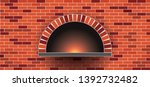 stone brick pizzeria pizza...   Shutterstock .eps vector #1392732482