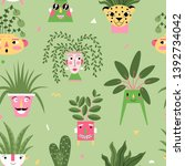 seamless pattern with a... | Shutterstock .eps vector #1392734042