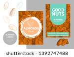 almonds labels with brush... | Shutterstock .eps vector #1392747488
