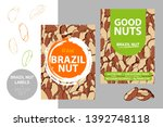 brazil nuts labels with brush... | Shutterstock .eps vector #1392748118