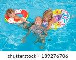 two little girls and little boy ... | Shutterstock . vector #139276706