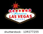 welcome to las vegas sign on... | Shutterstock . vector #139277255