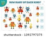 how many of each kind cartoon... | Shutterstock .eps vector #1392797375