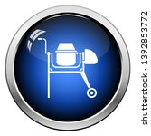 icon of concrete mixer. glossy... | Shutterstock .eps vector #1392853772