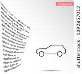 car vector icon . lorem ipsum...