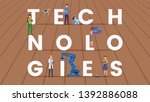 Technologies Word Concept Flat...