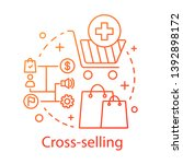 cross selling concept icon.... | Shutterstock .eps vector #1392898172