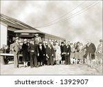 Vintage Photo Of Tourists Next...
