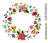vector flower frame. template...   Shutterstock .eps vector #1392910025