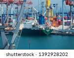 industrial port in odessa city  ... | Shutterstock . vector #1392928202