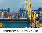 industrial port in odessa city  ... | Shutterstock . vector #1392928205
