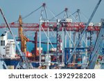 industrial port in odessa city  ... | Shutterstock . vector #1392928208