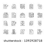 set of job resume related... | Shutterstock .eps vector #1392928718