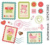 cute collection of baby girl... | Shutterstock .eps vector #139292882