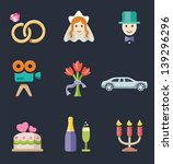 vector illustration of wedding... | Shutterstock .eps vector #139296296