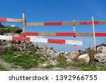 fence  barrier and obstacle as... | Shutterstock . vector #1392966755