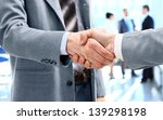 close up of businessmen shaking ... | Shutterstock . vector #139298198
