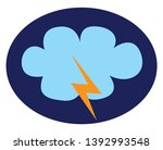 a heavy thunderstorm with... | Shutterstock .eps vector #1392993548