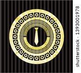 necktie icon inside golden... | Shutterstock .eps vector #1393001978