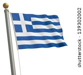 the flag of greece fluttering... | Shutterstock . vector #139302002