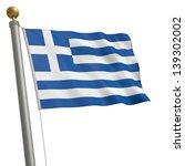 the flag of greece fluttering... | Shutterstock . vector #139302002