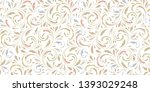 floral seamless pattern. soft... | Shutterstock .eps vector #1393029248