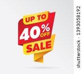 vector sale banner template... | Shutterstock .eps vector #1393058192