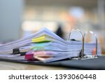financial documents are in the... | Shutterstock . vector #1393060448