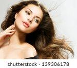 beauty girl portrait with long... | Shutterstock . vector #139306178