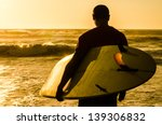a surfer watching the waves at... | Shutterstock . vector #139306832