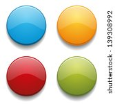 colorful glossy round buttons | Shutterstock .eps vector #139308992