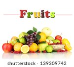 assortment of exotic fruits and ... | Shutterstock . vector #139309742